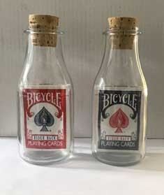 cards in bottles